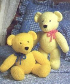 Вязание спицами детям: игрушки - медведи описание