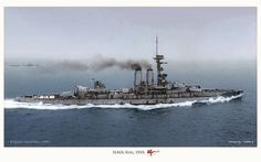 British battleship HMS Erin in 1918. A fine colourised photo. | Flickr - Photo Sharing!