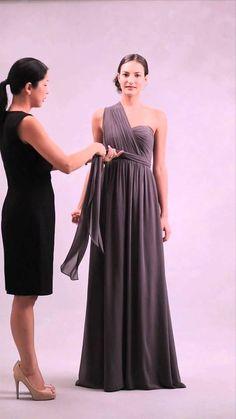 eeb3e105a7 Nabi Dress-Style 3 (Clean One Shoulder w  Front Bow Sash)