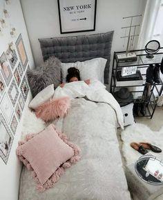 Bedroom Ideas: 52 modern design ideas for your bedroom – Zimmer deko ideen - Small Room Bedroom, Teen Bedroom, Bedroom Apartment, Bed Room, Modern Bedroom, Diy Bedroom, Bedroom Colors, Master Bedroom, Single Bedroom