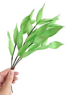 Leafy Branches: Handmade Crepe Paper Foliage