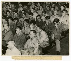 German POWs in America watching films of the concentration camps. Some were disbelieving, others traumatized.