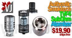 HOT!! – Authentic SmokTech TVF4 SubOhm Atomizer – $19.90
