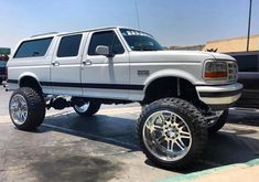 jacked up diesel trucks Bronco Truck, Ford Ranger Truck, Truck Flatbeds, Big Ford Trucks, Lifted Ford Trucks, Cool Trucks, Ford Diesel, Diesel Trucks, Ford Obs