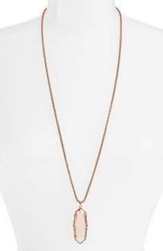 Kendra Scott 'Frances' Necklace available at #Nordstrom Irridescent peach, rose gold