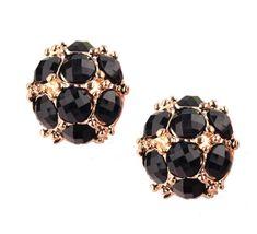 Black-Round-Earrings