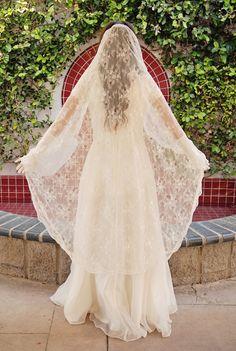 Chantilly Lace Mantilla Wedding Veil  Bridal by UrbanVeilsCouture, $275.00