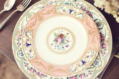 I usually don't like floral china but these are so pretty together