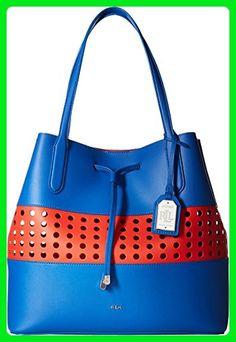 05b17a959635f LAUREN Ralph Lauren Women s Dryden Diana Tote Medium Snorkl Fie Handbag -  Totes (