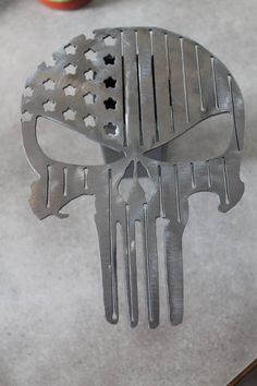 Punisher flag hitch cover   Etsy Skull Flag, Simple Gifts, Sheet Metal, Punisher, Metal Art, Etsy Shop, Cover, Horseshoes, 6 Inches