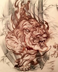 Custom drawing by artist who is hosting a SEMINAR on Sunday July to at the Empire State Tattoo Expo… Tiger Tattoo Design, Tattoo Designs, Tattoo Studio, Body Art Tattoos, Sleeve Tattoos, Tattoo Ink, Rite De Passage, State Tattoos, Tattoo Expo