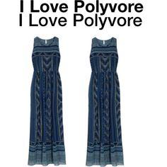 Blue Print Maxi Dress {Stitch Fix}