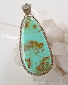 David Troutman Turquoise Pendant | Southwestern Turquoise Jewelry by Schaef Designs | New Mexico