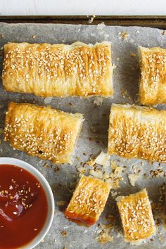 """Party Sausage Rolls by Dave - """"The best sausage roll recipe I've tried. So quick and simple and a great base recipe to play around with. Dutch Recipes, Cooking Recipes, Top Recipes, Party Recipes, Best Sausage Roll Recipe, Mince Recipes, Sausage Recipes, Beef Dishes, Prawn Dishes"""