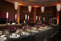 Ballroom Wedding Head Table    Photography: KingenSmith   Read More:  http://www.insideweddings.com/weddings/interfaith-candlelit-ceremony-glamour-purple-reception/370/