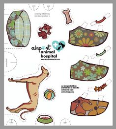 Airport Animal Hospital: Kids Pages - Adopt a Greyhound! Cut out your very own Greyhound dress-up paper doll. Art by Heather Cuesta.