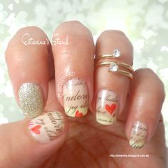 Uñas románticas para San Valentín