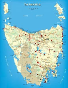Free Camping Tasmania Map | TravellingTwo: Bicycle Touring Around The World