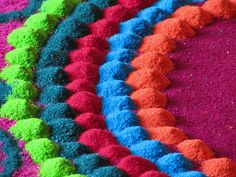 Colours of India - Rangoli is a traditional decorative folk art from India - Cris Figueired♥