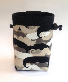 mustache chalk bag, rock climbing