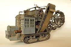 The A7V Trench Digger was used behind the front line to cut trenches.The crew and the vehicle had no protection from small arms fire and artillery shells