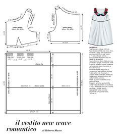 Empire Dress draft sewing pattern Dress Making Patterns, Sewing Patterns For Kids, Sewing For Kids, Vintage Sewing Patterns, Sewing Kids Clothes, Diy Clothes, Love Sewing, Baby Sewing, Fashion Sewing