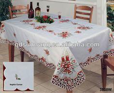 navidad mantel con bordado-imagen-Manteles-Identificación del producto:1407326249-spanish.alibaba.com