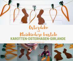 Ostern steht vor der Tür! Einfach, schnell und ohne viel Material könnt ihr mit Kleinkindern die Karotten-Osterhasen-Girlande basteln. Hier geht´s zur...