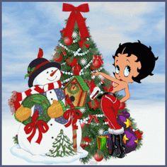 Betty Boop Christmas greetings.........