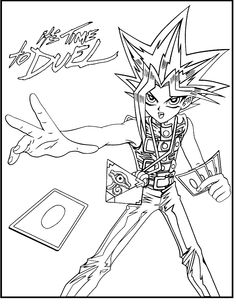 Yu-Gi-Oh Its Time To Duel coloring picture for kids