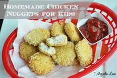 "Healthy alternative to store bought nuggets.  The secret is in the ""process"" and your kids are going to love them."