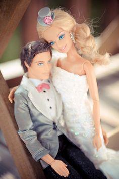 Barbie And Ken Wedding Cake Topper