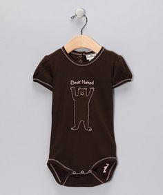 Hatley Brown & Pink Bear Onesie: On sale, $9.99 #Kids #Onesie #Hatley