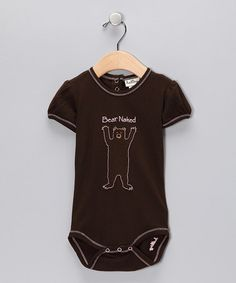 Hatley Brown & Pink Bear Onesie: On sale, $9.99 #Kids #Onesie #Hatley