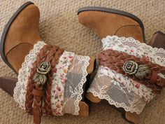 Im not a cowboy boot wearer but I can picture the perfect dress and jean jacket to go with this!