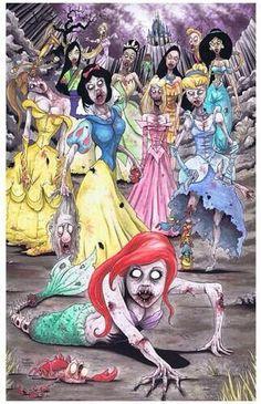 Walking Dead - Disney Princesses
