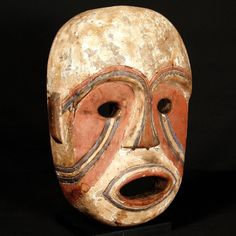 """Komo (Kumu) Nsembu Mask Easternmost Central Congo, Central Africa, Diviner's mask. Nkunda Society mask, refer to African Masks from the Barbier-Mueller Collection 13 3/4"""" / 34.9cm : Collected by Jean Pierre Hallet"""