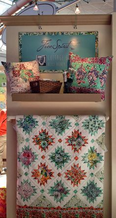 Cottage Garden by Alice Hickey for Free Spirit Fabrics.  Photo by Diary of a Quilt Maven: 2014 Spring Quilt Market
