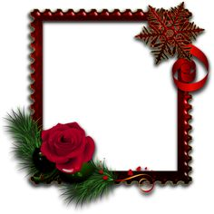 Red Photo Frame with Rose