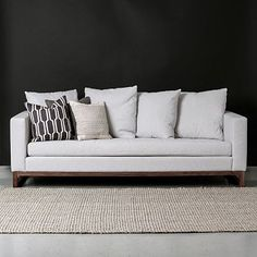 West Elm | Toss-Back Sofa $1,599 - Cement