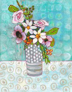 Sophia Daisy Flowers Painting