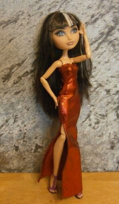 Lounge singer style dress for monster high doll and by moonsight68, $12.00