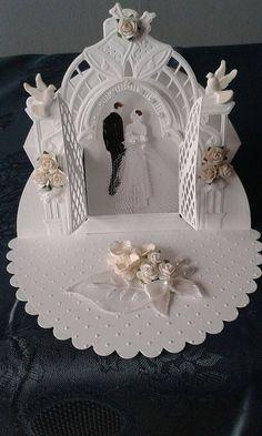 Hochzeitskarte Wedding Day Cards, Wedding Cards Handmade, Wedding Anniversary Cards, Greeting Cards Handmade, Gift Wedding, Pop Up Cards, Cute Cards, Crystal Wedding Decor, 16th Birthday Card