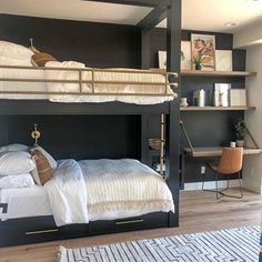 Another little peek of our summitcreekproject bunk room The uvparade Home Bedroom, Kids Bedroom, Bedroom Decor, Bedroom Ideas, Bunk Rooms, Bedrooms, The Design Files, My New Room, Room Inspiration
