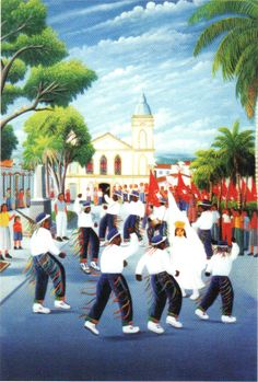 Congada group in Popular festivity in honor of the Holy Spirit - Mogi das Cruzes, Brazil by Nerival Rodrigues