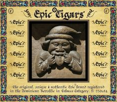 EPIC® CIGARS THE ORIGINAL, UNIQUE AND AUTHENTIC  EPIC®BRAND REGISTERED IN DOMINICAN REPUBLIC, TOBACCO CATEGORY, #220651.