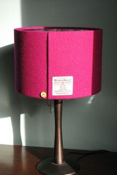 Lampshade Drum made with Edinburgh Weavers People White Sketch Fashion Lamp