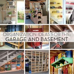 Roundup Spring Organization Ideas for the Garage and Basement That ADD Space & Organization basement organization popular pin DIY organization ...