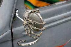 skull rearview mirror
