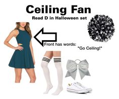 """""""Ceiling Fan Halloween costume"""" by jasperthecat ❤ liked on Polyvore featuring Converse"""
